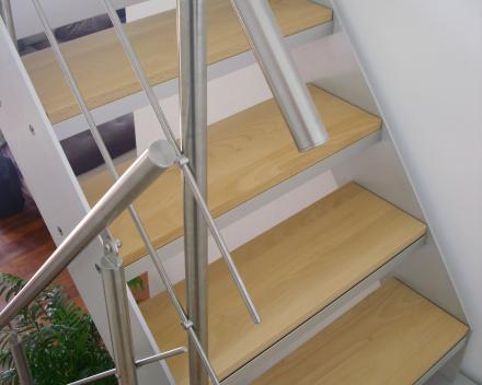 Houten trap bij Bobet in Lille (FR)