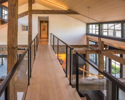 Escalier en bois à Virginia (US)
