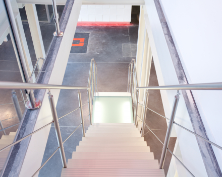 Modern stair Triangle at the company Thielemans