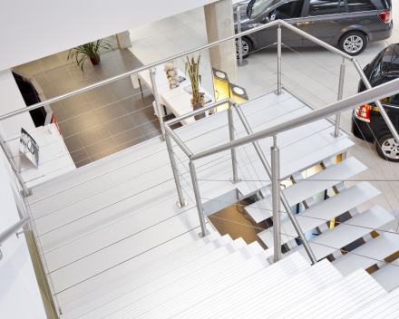 Modern stair Triangle in the company United Motors