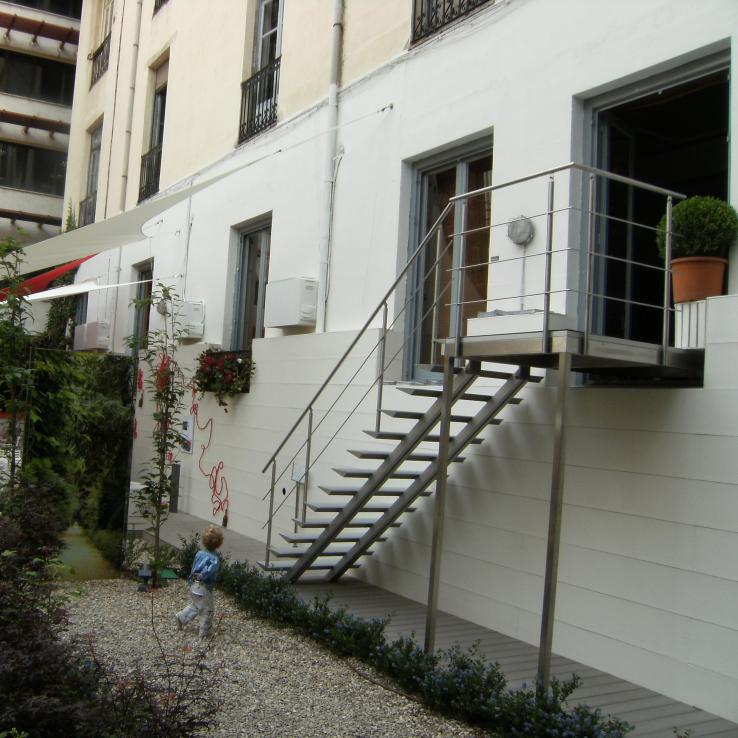 Escalier extérieur Triangle avec Casadecor