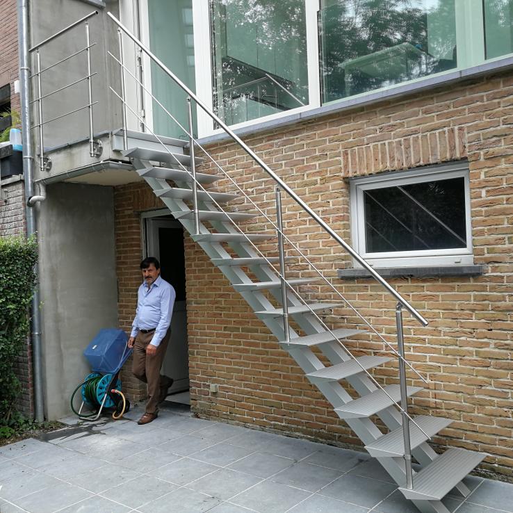 Escalier extérieur Triangle chez Grave