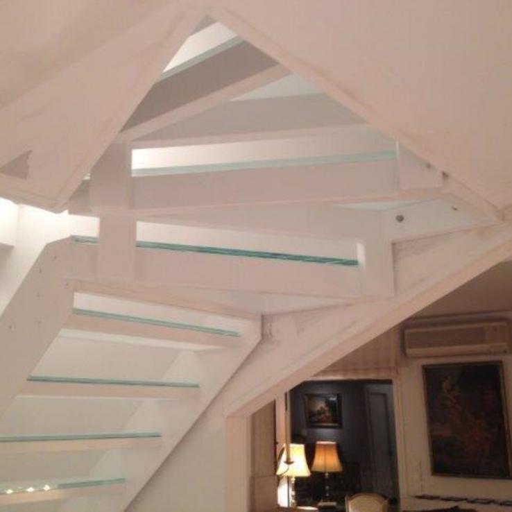 Glazen trap met Inox P in Biarritz (FR)