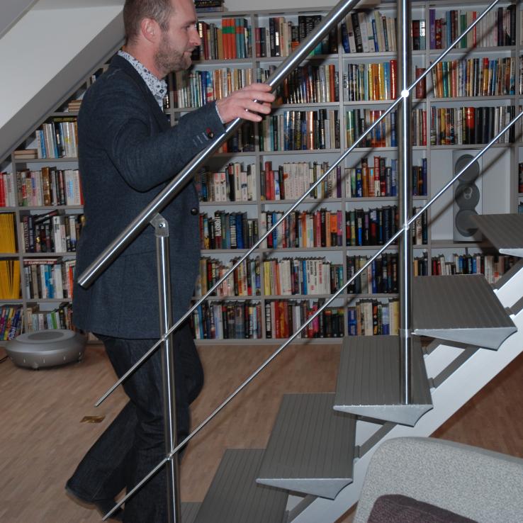 Escalier Moderne Triangle chez Lena